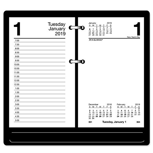 "AT-A-GLANCE 2019 Daily Desk Calendar Refill, 3-1/2"" x 6"", Recycled, Loose Leaf (E717R50)"