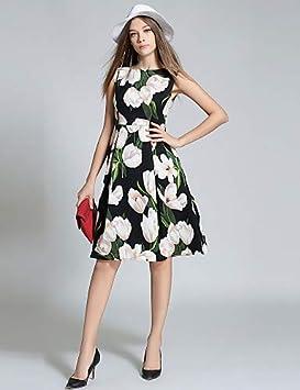 Women's Vintage Street Chic A Line Dress - Floral, Print YFLTZ