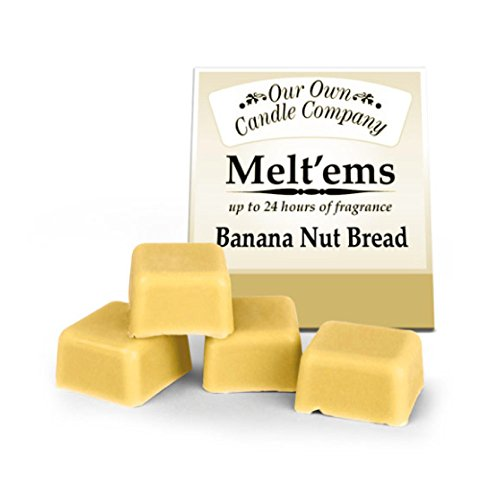 Wax Melt Tarts - Home Fragrance Melting Tart - 4 Cubes 2.5 Oz. - Banana Nut