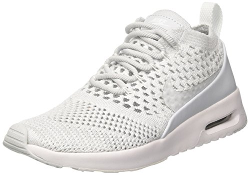 NIKE Women's Air Max Thea Ultra FK Pure Platinum/Pure Platinum Running Shoe 5.5 Women US (Women Nike Air Max Orange)