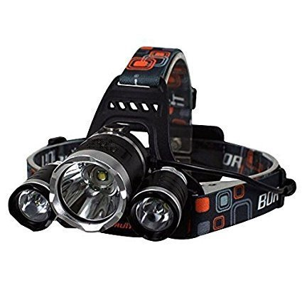 Brightest and Best LED Headlamp 10000 Lumen flashlight - IMPROVED LED, Rechargeable 18650 headlight flashlights, Waterproof Hard Hat Light, Bright Head Lights, Running or Camping headlamps … by HONG (Image #9)