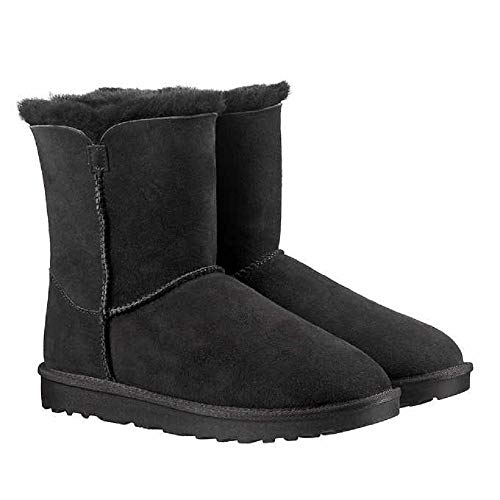 Kirkland Signature Ladies Genuine Sheepskin - Shearling Lining - Zipper Boots for Women (6, Black)
