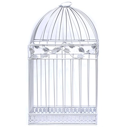 White Birdcage Wedding Gift Card Holder by All Things Weddings