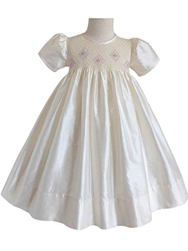 Ivory Silk Flower Girl Dress - 6
