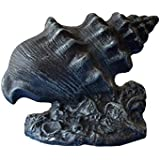 "Seaworn Cast Iron Conch Shell Doorstop 9"" - Nautical Decor - Nautical Home Decoration"