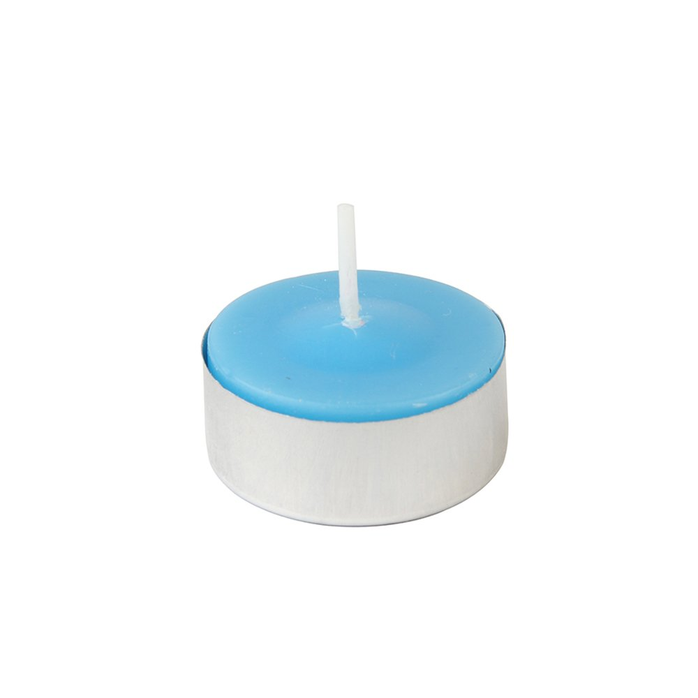 Zest Candle CTC-003_12 1200-Piece Citronella Tealight Candle, Turquoise/Red