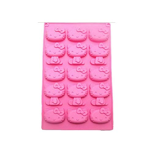 (Kitty - Chocolate Mold 15 Even Kt Cat Fondant Silicone Super Cute Hello Kitty Cake Baking Decoration Cooking - Cake Women Shape Baking Numbers Pans Mermaid Metal Baby Shapes Circle)
