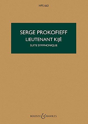 Lieutenant Kije Op. 60 Orchestre (Anglais) Partition – 1 janvier 2000 Sergei Prokofiev Boosey B000ZGCIQS Study Score
