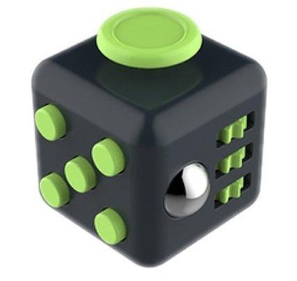 Fidget Cube Relieves Stress & Anxiety Attention Toy for work, home, class (darkgreen)