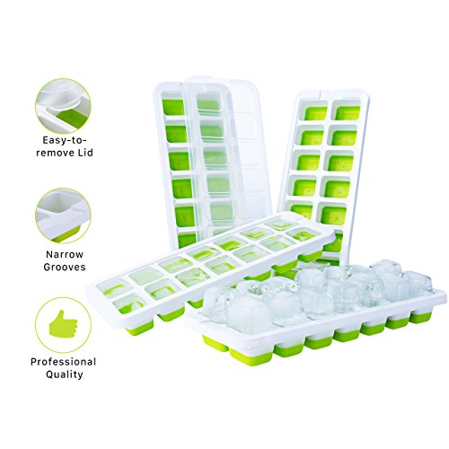 [Updated Version] Ice Cube Trays, TOPELEK LFGB Certified Ice Cube Moulds...