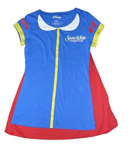 Juniors Snow White & The Seven Dwarfs Costume T-Shirt w Cape (Juniors XL 15-17)]()