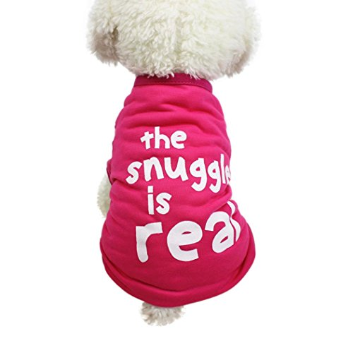 Funic Cute Pet Dog Cat Letter Printing T-Shirt Summer Dog Clothing Puppy Costumes