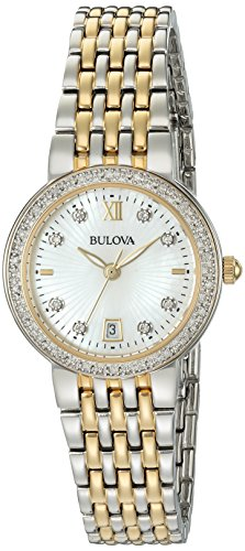 Bulova Women's Quartz Stainless Steel Casual Watch, Color:Two Tone (Model: 98R211)