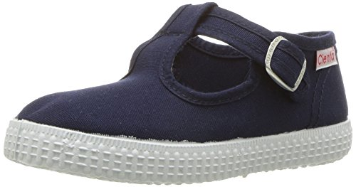 Cienta 51000 T-Strap Fashion Sneaker, Navy, 28 EU/10.5 M US Toddler -