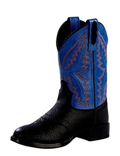 Pictures of Old West Boys' Saddle Vamp Western Boot Black 10 Toddler M 1