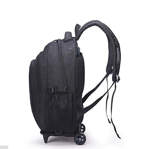 Equipaje Ordenador Black para PLYY Maleta ° Viajar Mochilas Mochila Negocio 15 portátil Daypack 6 Ligero 2 giran 360 Ruedas H1ORa0qOU
