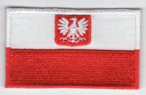 Embroidery Patch Poland Eagle Flag Applique Polish 2.5