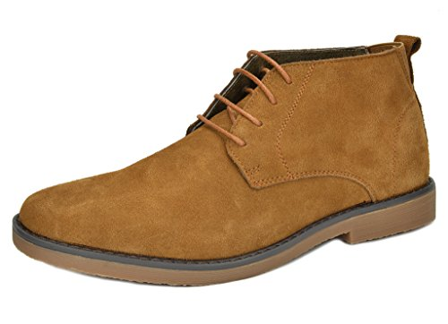 Mens Casual Chukka (Bruno Marc Men's Chukka Camel Suede Leather Chukka Desert Oxford Ankle Boots - 10 M US)
