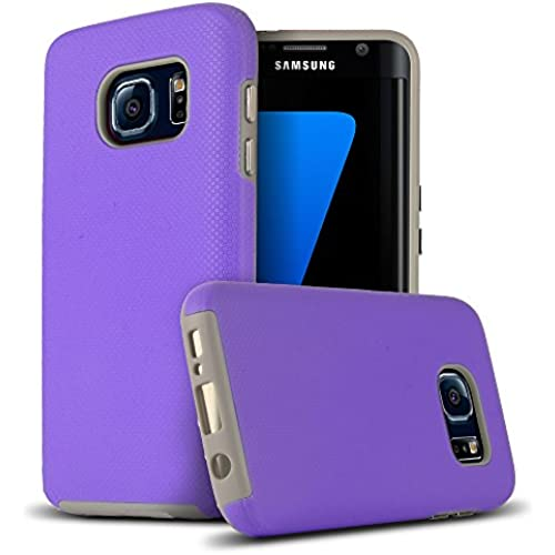 Galaxy S7 Edge Case, AERO ARMOR Galaxy S7 Edge Brisk Impact Resistant Case [Dual Layer Design] PURPLE for Samsung Sales