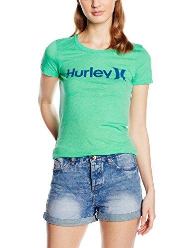 Hurley T-Shirt One & Only Perfect Crew - Camisa / Camiseta para mujer Verde (Menta)