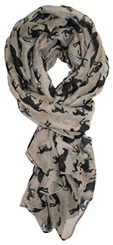 Ted and Jack - All The Beautiful Horses Perfect Print Equestrian Scarf in Beige - Equestrian Silk Scarf