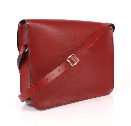 Leather Satchel's, Borsa a spalla uomo Marrone rosso