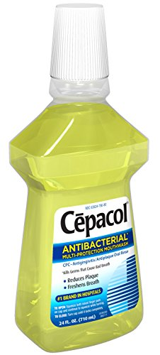 Cepacol Antibacterial Mouthwash, Gold, 24oz