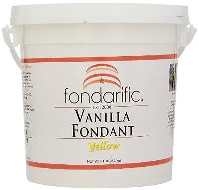 Fondarific Vanilla Yellow Fondant, 5-Pounds