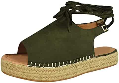 8f7e866376ff VESNIBA LLC Fashion Belt with Platform Sandals Large Size Sandals Hemp  Thick Bottom with Ladies Sandals