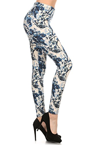 - R510-OS Cotton Flower Print Fashion Leggings