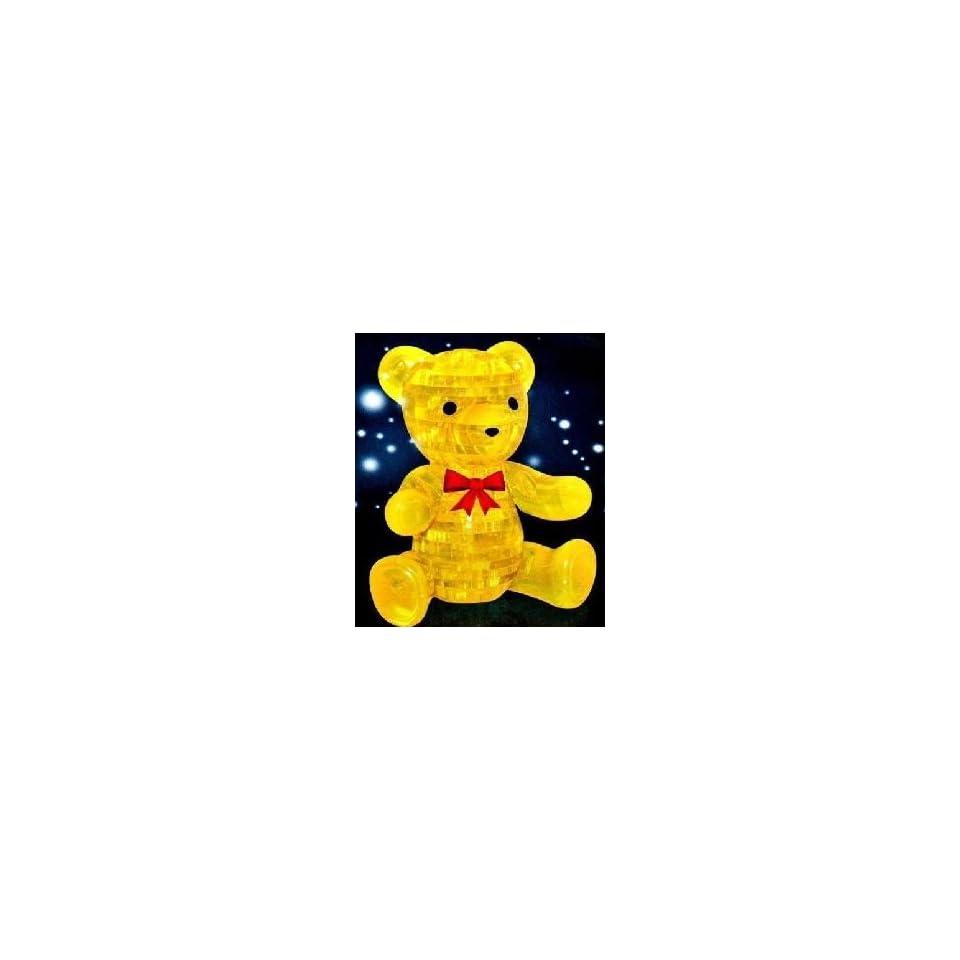 Teddy Bear Yellow 3d Crystal Puzzle Brain Teaser