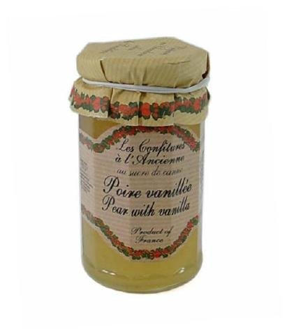 Pear Vanilla Jam Andresy All natural French jam pure sugar cane 9 oz jar Confitures a l'Ancienne, Three