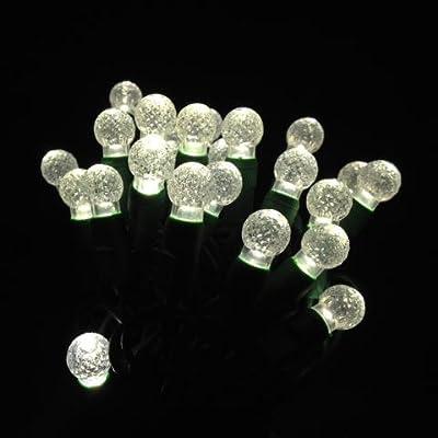 G12 Warm white LED string lights 25ft (50bulbs) - Berry G12 christmas lights