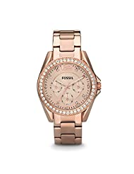 Fossil Women's ES2811 Riley Stainless Steel Watch