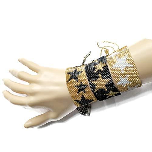 BALIBALI Miyuki Seed Beads Bracelet Evil Eye Star Lips Bracelet Cuff Women Bangle Hot Summer Charms Loom Woven Jewelry ()