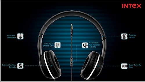 Intex Roar 101 Over-Ear Wired Headphone (Black)