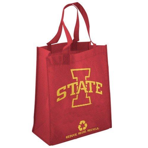 NCAA Iowa State Cyclones bedruckt Vlies Polypropylen wiederverwendbar Lebensmittels Tasche Sports Fan Home Decor, rot, one size