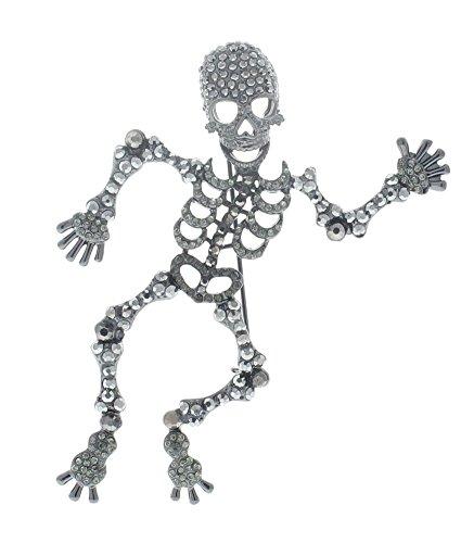 ShopForAllYou Clothes brooches Happy Halloween Dancing Skeleton Spooky Bones Pin Broach -