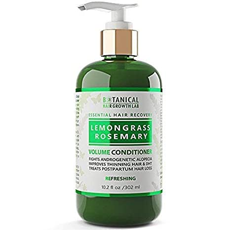 Amazon.com: Anti Hair Loss Conditioner Volumizing Lemongrass - Rosemary Botanical Organic Conditioner For Hair Thinning Prevention Alopecia DHT Blocking ...