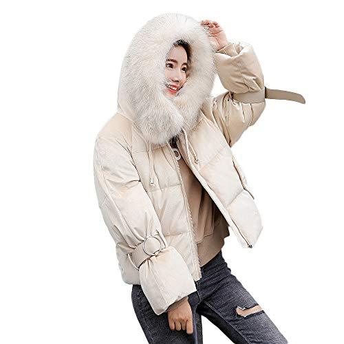 Eleganti Bianco Donna Invernale Elegante Giubbotto Autunnale Giacche Capispalla Con Pelliccia Beautyjourney Inverno Giacca Cappuccio Piumino 9WIDHEY2