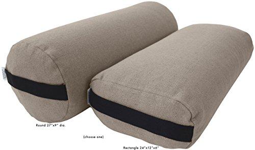 Bean Products Yoga Bolster - Hemp Rectangle - Natural