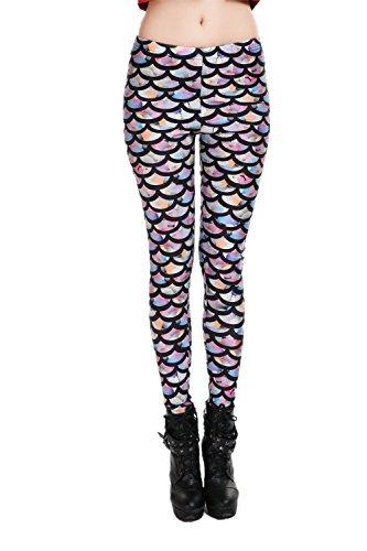 Women's Galaxy Fitness Pants Printing Rainbow Mermaid Leggings