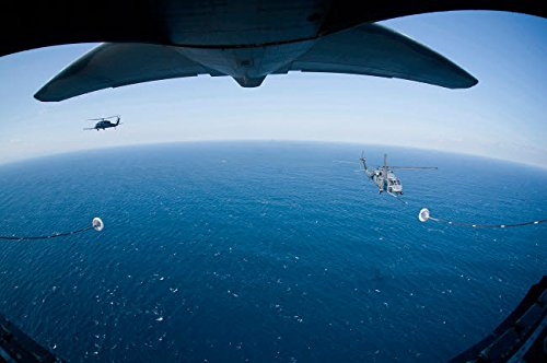 Posterazzi Poster Print Collection an MC-130P Combat Shadow Prepares to Refuel Two HH-60G Pave Hawk Helicopters Stocktrek Images, (34 x 22), Varies