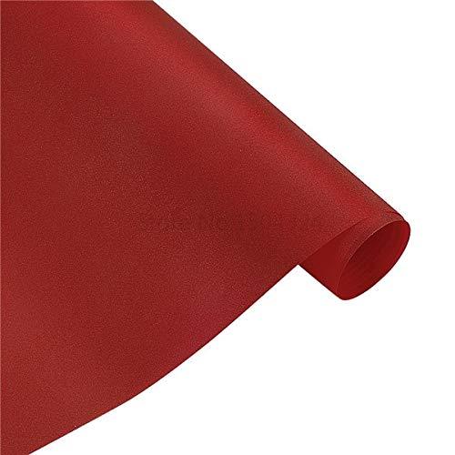 Melva R. Schwartz Vinyl Wraps, 1PC 30x150cm Car Tint Vinyl Film Protective Matte Pearl Lighting Flash Point Auto Headlight Taillight Wrap Car Sticker Styling, Car Light Film - Red