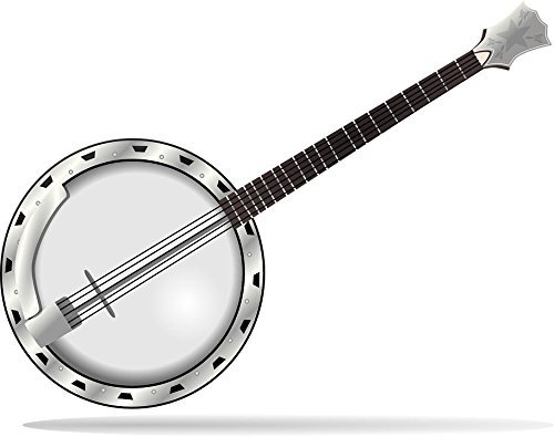 (Gifts Delight Laminated 30x24 inches Poster: Banjo Jazz Bluegrass Country Musical Instrument Music Western Guitar String Instrument)