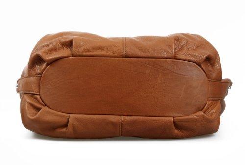 IO.IO.MIO Borsetta per le Icone®, Borsa a spalla donna Marrone Cognac 48x37x16 cm