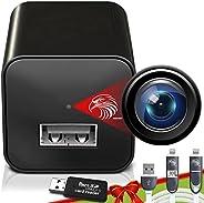 Mini cámara espía 1080P cámara oculta – portátil pequeña HD Nanny Cam con visión nocturna y detección de movim
