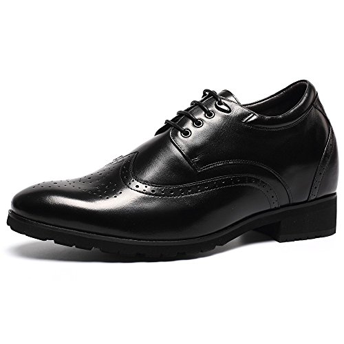 CHAMARIPA Elevator Shoes height incresing Dress Wingtip Oxford Lifting Shoes 3.94 Taller H62046K032D
