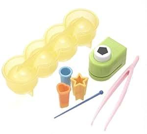 Rice Ball Maker Nori Punch Tweezers And Food Pick Bento Set
