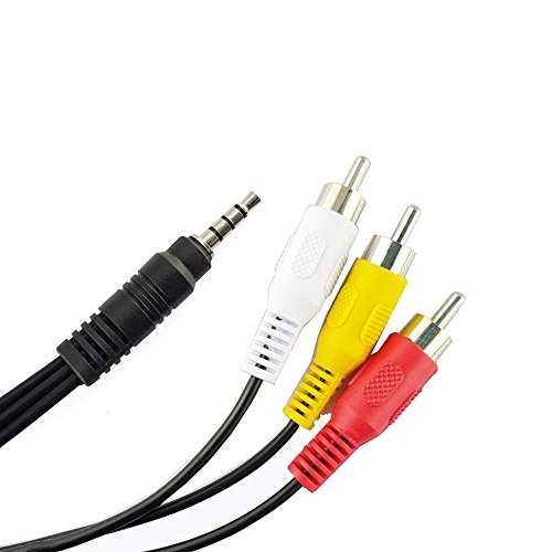 3.5 mm to 3 RCA AV Camcorder Video Cable, OWIKAR 3.5mm to 3